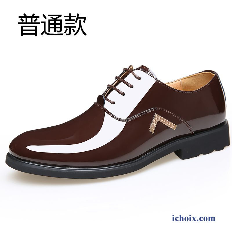 Chaussures Habillées Chaussures En Cuir Printemps Respirant Angleterre Homme Pointe Pointue