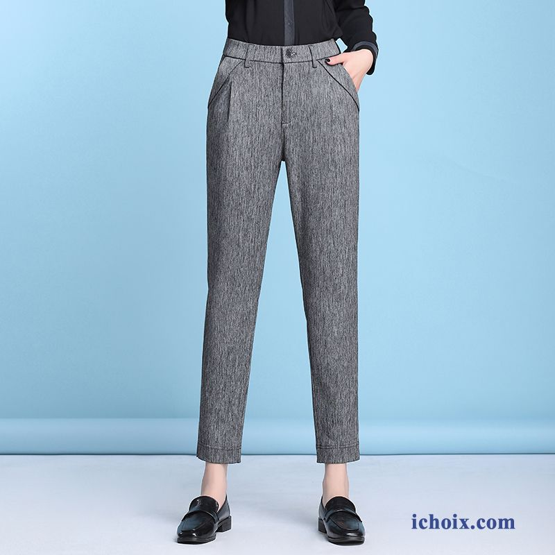 Femme Pantalon Gris Décontractée Printemps Maman Harlan Collants