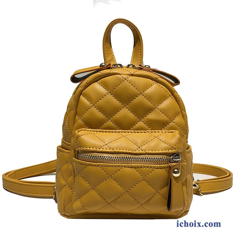 Femme Sac À Dos Jaune Sac À Main Printemps All-match Mode Tendance