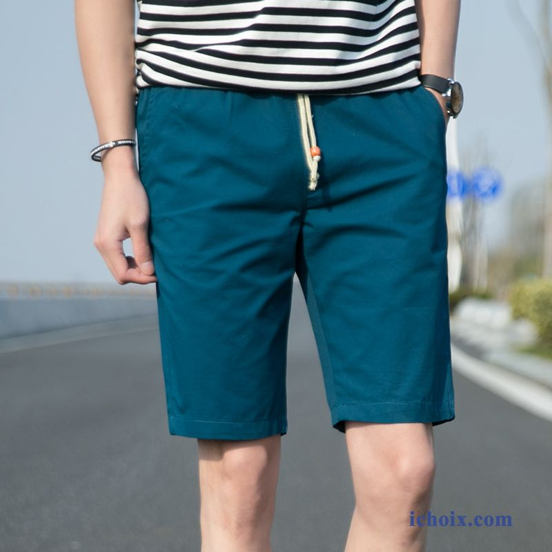 Cotton Youth Simple Leg Men Trendy Short Straight Organic knwP80O